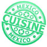 Mexico cuisine stamp