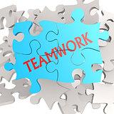 Puzzle jigsaw teamwork