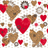 Seamless Valentine patterned texture