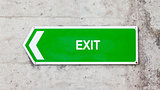 Green sign - Exit