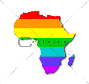Africa - Rainbow flag pattern