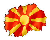 Macedonian flag map