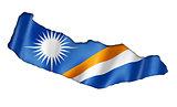 Marshall Islands flag map