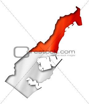 Monaco flag map