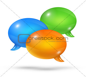 Group of speech bubbles