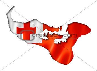 Tonga flag map