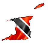 Trinidad And Tobago flag map