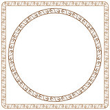 simple ornamental frames. Element for graphic design