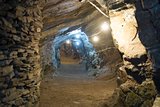 Gold mine tunnels