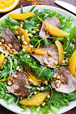Duck breast and orange salad