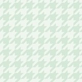 Pastel vector houndstooth seamless mint green and white pattern or tile background decoration.