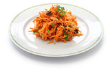 grated carrot salad and grater