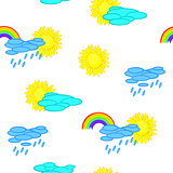 Seamless weather cartoon background