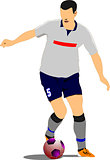 Soccer player. Football.vVector illustration
