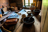 Russian home kitchen interior in the Middle Ages