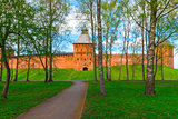 park around the Kremlin. Veliky Novgorod