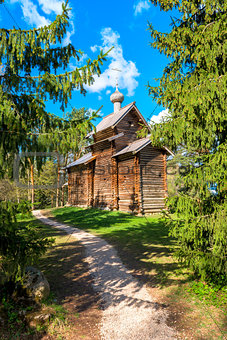 Old wooden church of the firs
