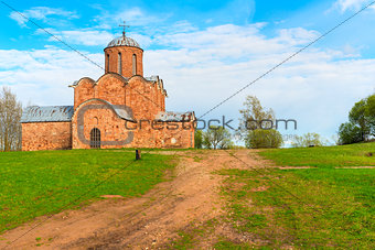 old brick church on the hill