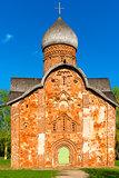 beautiful red brick church, orthodox