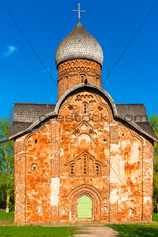 beautiful red brick church, orthodox