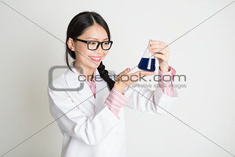 Asian female biochemistry student