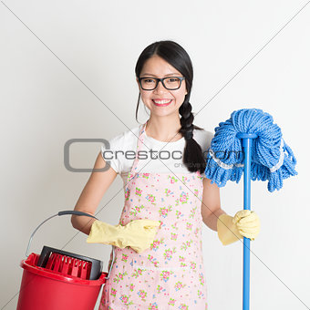 Asian Chinese woman housekeeping