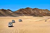 Landscape of Sahara desert