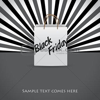 Black friday advertising background design