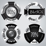 Black friday badge set of 4