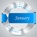 2015 january calendar design