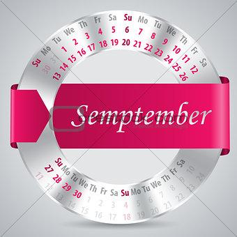 2015 september calendar design
