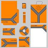 Orange business vector set