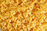 Farfalle pasta background