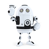 Cute robot waving hello