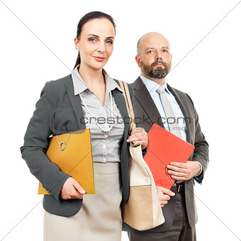 business man and business woman