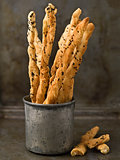 rustic italian grissini breadstick