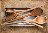 vintage wooden spatula