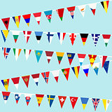 Bunting with European flags