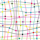 Colorful background with dots and lines