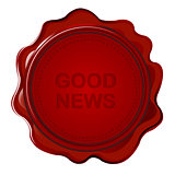 Wax seal with Good news