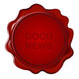 Wax seal with Good news