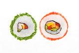 California maki sushi rolls.