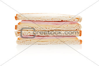 Toast with ham and cheese.