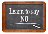 learn to say no advice