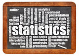 statistics and data word cloud