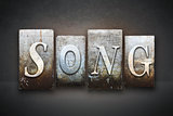Song Letterpress