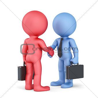 Business handshake. Isolated on white background
