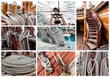 Collage of ship rigging
