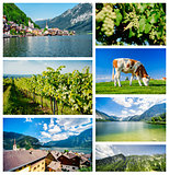 Collage of famous places in Austria