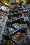 Scaffolding inside of Karlskirche (St. Charles church),Vienna